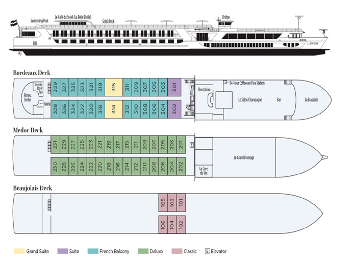 Diagram of ship
