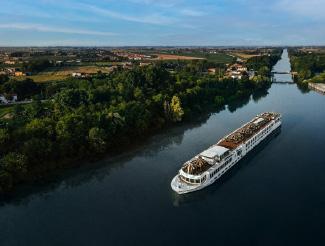SS La Venezia on the Po River